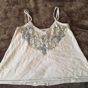 Hollister Silver and Gold Sequin Tank Top